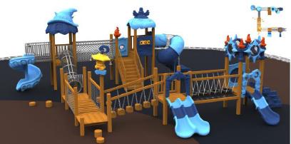 outdoor wooden playground