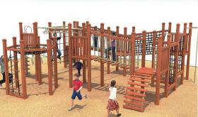 wooden outdoor equipment