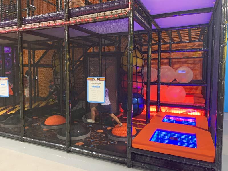 ninja course playground equipment
