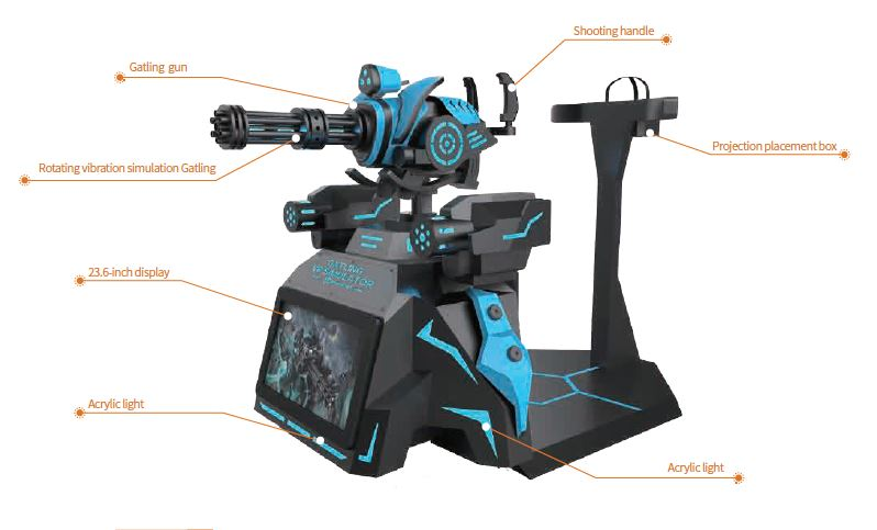 Gatling VR simulator